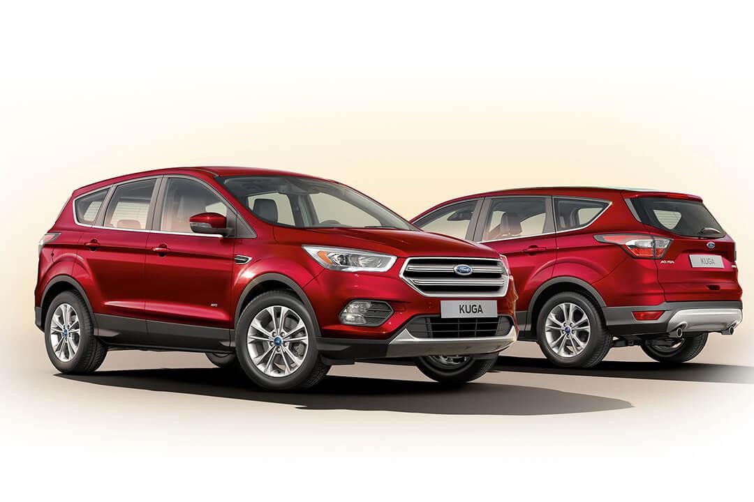 två-röda-ford-kuga