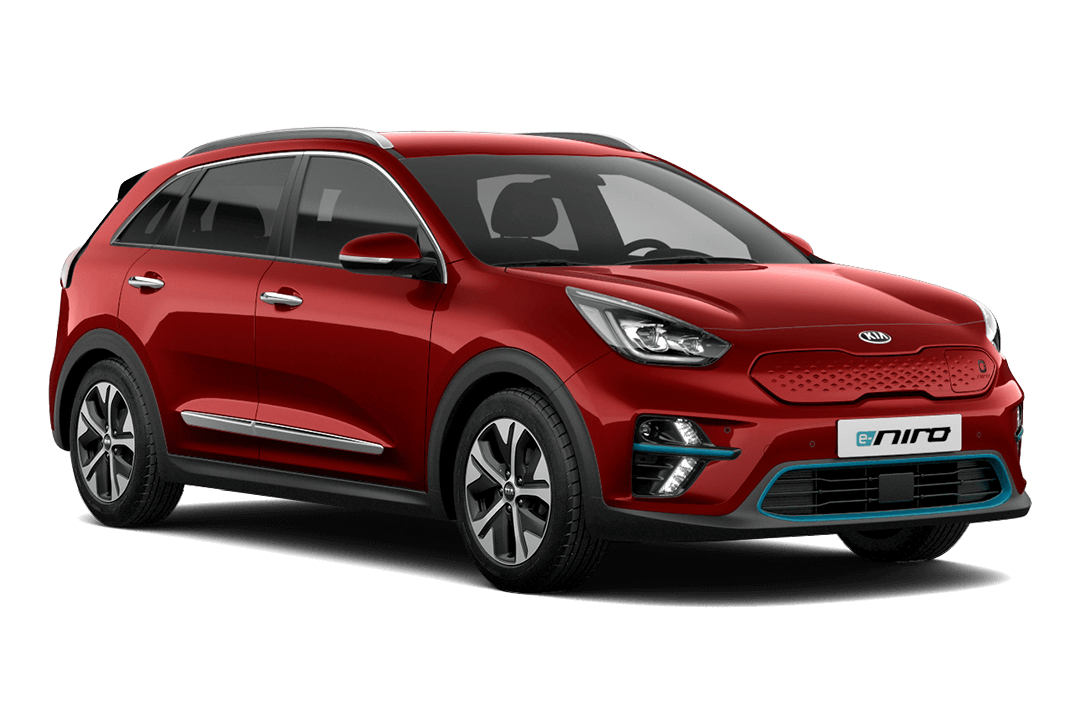 kia-niro-ev-snow-runway-red
