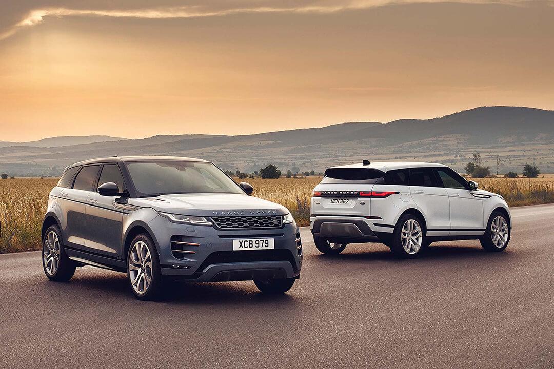 två-stycken-range-rover-evoque