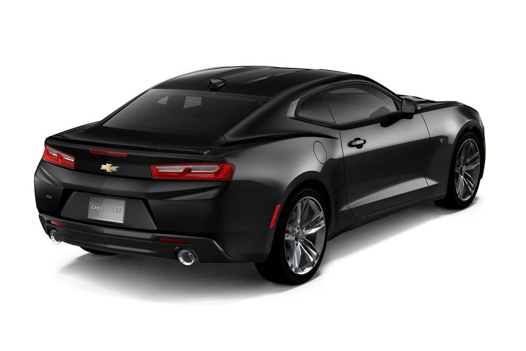 svart-chevrolet-camaro-rear