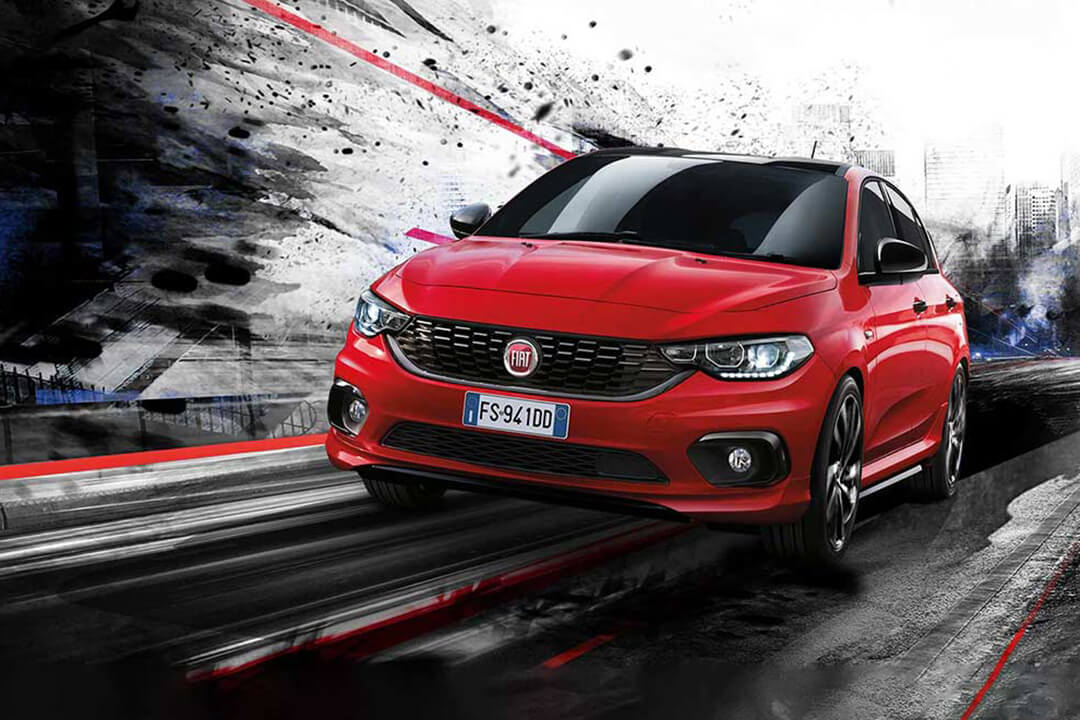 fiat-tipo-sport-passione-röd-front